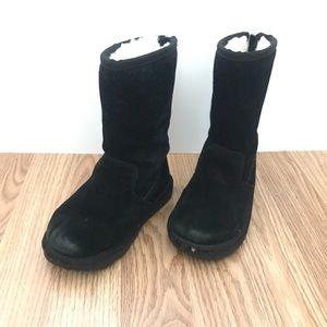 UGG kids black zip up boots